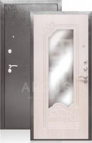 Дверь Aргус ДА-8 беленый дуб с зеркалом