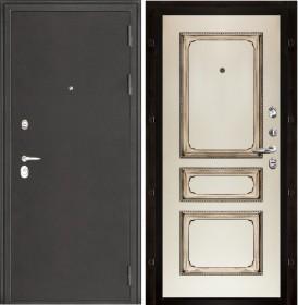 Дверь Колизей Классика-5 эмаль слоновая кость с патиной орех