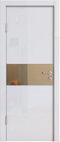 Дверь Модерн ДО-501 белый глянец (зеркало бронза)