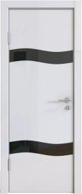 Дверь Модерн ДО-503 белый глянец (стекло черное)