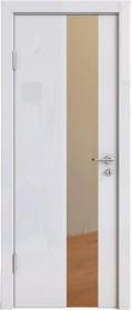Дверь Модерн ДО-504 белый глянец (зеркало бронза)