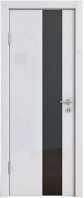 Дверь Модерн ДО-504 белый глянец (стекло черное)