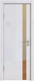 Дверь Модерн ДО-507 белый глянец (зеркало бронза)