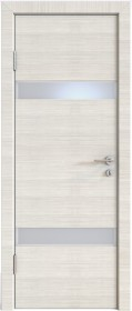 Дверь Модерн ДО-502 ива светлая (стекло белое)