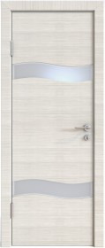 Дверь Модерн ДО-503 ива светлая (стекло белое)