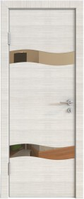 Дверь Модерн ДО-503 ива светлая (зеркало бронза)
