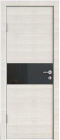 Дверь Модерн ДО-501 ива светлая (стекло черное)
