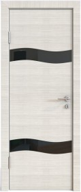 Дверь Модерн ДО-503 ива светлая (стекло черное)