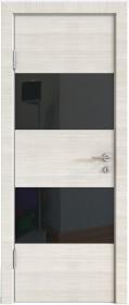 Дверь Модерн ДО-508 ива светлая (стекло черное)
