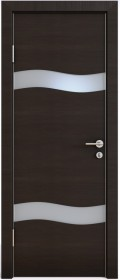 Дверь Модерн ДО-503 венге горизонтальный (стекло белое)