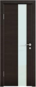 Дверь Модерн ДО-504 венге горизонтальный (стекло белое)