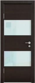 Дверь Модерн ДО-508 венге горизонтальный (стекло белое)