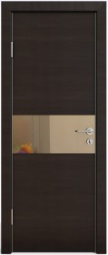 Дверь Модерн ДО-501 венге горизонтальный (зеркало бронза)