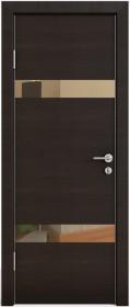 Дверь Модерн ДО-502 венге горизонтальный (зеркало бронза)