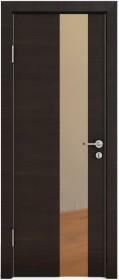 Дверь Модерн ДО-504 венге горизонтальный (зеркало бронза)