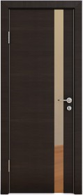 Дверь Модерн ДО-507 венге горизонтальный (зеркало бронза)