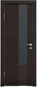 Дверь Модерн ДО-504 венге горизонтальный (стекло черное)
