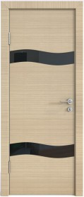Дверь Модерн ДО-503 неаполь (стекло черное)