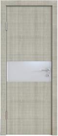 Дверь Модерн ДО-501 дуб серый (стекло белое)