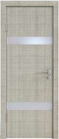 Дверь Модерн ДО-502 дуб серый (стекло белое)