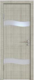 Дверь Модерн ДО-503 дуб серый (стекло белое)