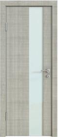 Дверь Модерн ДО-504 дуб серый (стекло белое)