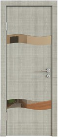 Дверь Модерн ДО-503 дуб серый (зеркало бронза)