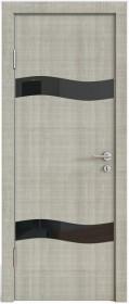 Дверь Модерн ДО-503 дуб серый (стекло черное)