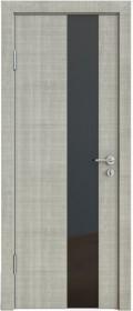 Дверь Модерн ДО-504 дуб серый (стекло черное)