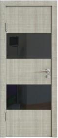 Дверь Модерн ДО-508 дуб серый (стекло черное)