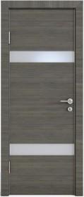 Дверь Модерн ДО-502 ольха темная (стекло белое)