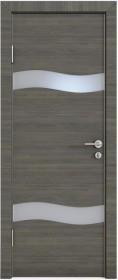 Дверь Модерн ДО-503 ольха темная (стекло белое)