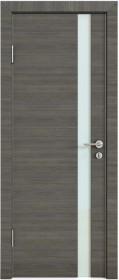 Дверь Модерн ДО-507 ольха темная (стекло белое)