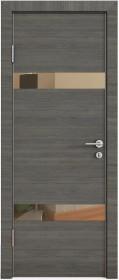 Дверь Модерн ДО-502 ольха темная (зеркало бронза)