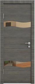 Дверь Модерн ДО-503 ольха темная (зеркало бронза)
