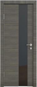 Дверь Модерн ДО-504 ольха темная (стекло черное)
