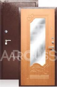 Дверь Aргус ДА-13 клен медовый с зеркалом