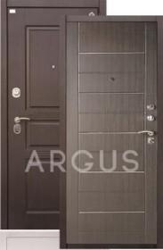 Дверь Aргус ДА-42 МДФ/МДФ венге тисненый