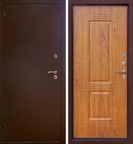 Дверь Aргус Тепло-1 дуб янтарный