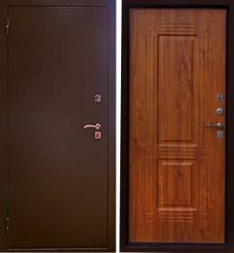 Дверь Aргус Тепло-2 дуб темный