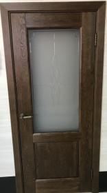 Дверь массив дуба Селена античный орех