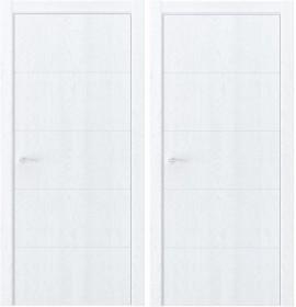 Дверь Luxor QIN 10 дуб сатин (с алюминиевой кромкой)