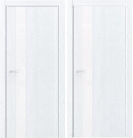 Дверь Luxor QIN 2 дуб сатин (с алюминиевой кромкой)