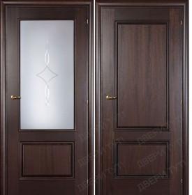 Дверь DOMENICA 520/511 А орех махагон