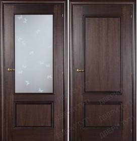 Дверь DOMENICA 520/511 B орех махагон