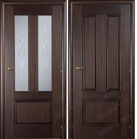 Дверь DOMENICA 530V/512 VА орех махагон