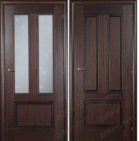 Дверь DOMENICA 530V/512 VB орех махагон