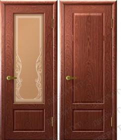 Дверь Валенсия 1 красное дерево