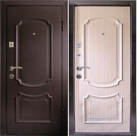 Дверь Патриот 726 венге/беленый дуб