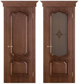 Дверь Премьера патина голд (Ромб)